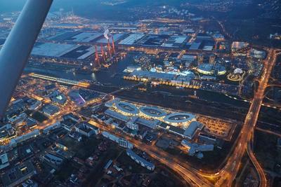 Wolfsburg zur Weihnachtszeit von oben